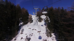 Ski lift in the mountains Stock Footage