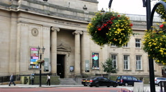 Bolton art gallery museum and library entrance Stock Footage