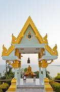 Shrine in the phra mahathat chedi phakdi prakat pagoda Stock Photos