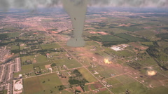 Destructive Tornado on the Ground Stock Footage