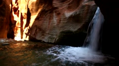 Waterfall in Slot Cayon Stock Footage