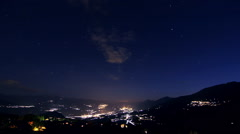 Switzerland by night Timelapse Stock Footage