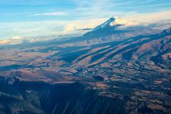 cotopaxi volcano, andean highlands of ecuador - stock photo