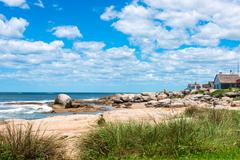 Punta del diablo beach, popular tourist place in uruguay Stock Photos