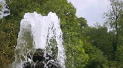 Ornamental fountain at the Italian Garden, London. Stock Footage