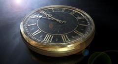 macro antique watch midnight - stock illustration