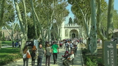 Topkapi Palace The Gate, Istanbul Stock Footage