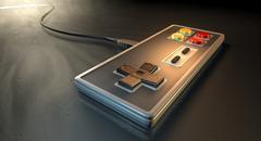 vintage gaming controller - stock illustration