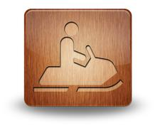 Stock Illustration of icon, button, pictogram snowmobiles