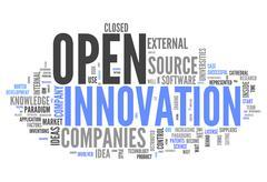 Word cloud open innovation Stock Illustration