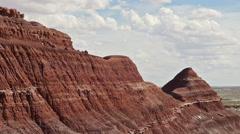 Badlands Wilderness Paleontology Geology Where Dinosaurs Roamed - stock footage