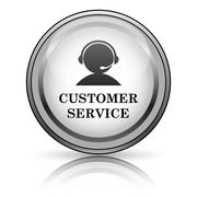 customer service icon - stock illustration