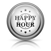Stock Illustration of happy hour icon