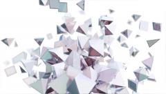 Geometric design background of reflective pyramids in abstract motion (FULL HD) Stock Footage