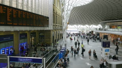 Concourse at King's Cross rail station, London. Stock Footage