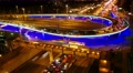 4K Night city traffic on freeway, Moscow, time-lapse. Footage