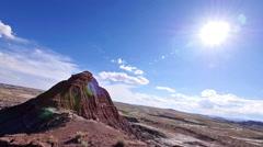 Badlands Wilderness Paleontology Geology Where Dinosaurs Roamed Locked Long Shot - stock footage