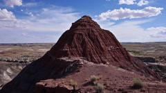 Badlands Wilderness Paleontology Geology Where Dinosaurs Roamed Pyramid - stock footage