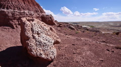 Badlands Wilderness Paleontology Geology Where Dinosaurs Roamed Pitted Rock - stock footage