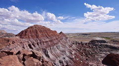 Badlands Wilderness Paleontology Geology Where Dinosaurs Roamed Overlook - stock footage