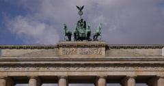 UltraHD 4K UHD Brandenburg Gate Historic Landmark City Center Berlin Germany Day Stock Footage