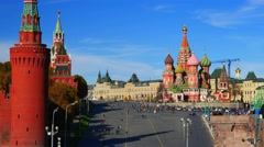 Russia, Moscow.  Red Suare, St. Basil's Cathedral and Kremlin. Time-lapse. Stock Footage