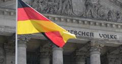 UltraHD 4K Dem Deutschen Volke German Bundestag Building Berlin Germany National Stock Footage