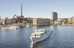 Ship in tampere harbour, finland. Stock Photos