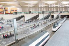 Stock Photo of zaragoza, spain-31 may: renfe - ave high speed train at zaragoza delicias sta