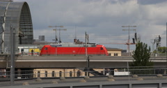 UltraHD 4K German Train Departing Deutsche Bahn Berlin Central Station Germany Stock Footage