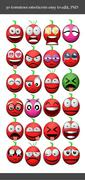 Tomatoes emoticons PSD Template