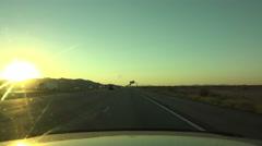 4K UHD time lapse driving sunset I-10 to I 8 interchange west Arizona Stock Footage