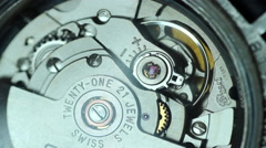 Mechanism of mechanical watch - stock footage