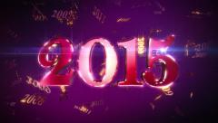 New Year 2015 Lopable Background Stock Footage