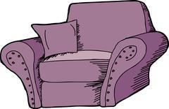Stock Illustration of purple armchair