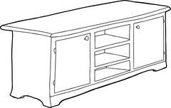 Stock Illustration of black outline cabinet