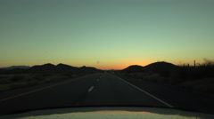 4K UHD driving freeway west Arizona sunset desert colors 3 Stock Footage