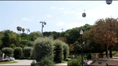 Funicular  in Barcelona Stock Footage