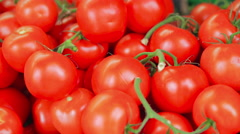 Fresh Tomatoes, Local London Shop Display Stock Footage