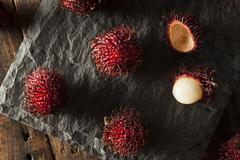 fresh organic tropical rambutan - stock photo