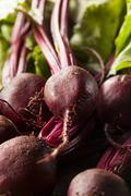 Stock Photo of raw organic red beets