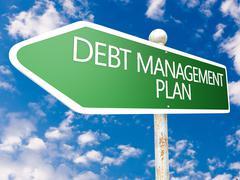 Debt management plan Stock Illustration