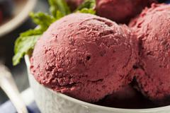 Stock Photo of homemade organic berry sorbet ice cream