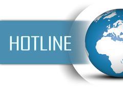 hotline - stock illustration