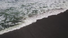 View of running sea waves and white foam  in Bali island,Indonesia.23s Stock Footage