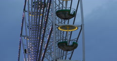 UHD 4K Ferris Wheel In Berlin High Ride Famous Entertainment Motion Observatory Stock Footage