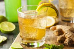 organic ginger ale soda - stock photo