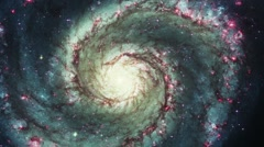 Spiral Galaxy - stock footage