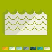 Flat design: wave Stock Illustration