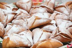 buns with jam - stock photo